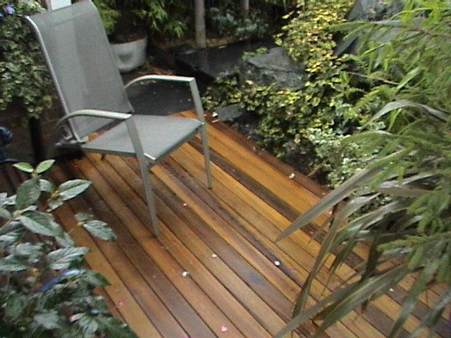 Exclusive Hardwood decking for a touch of class!